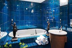 Finaste Huset: blåaste blåa badrum