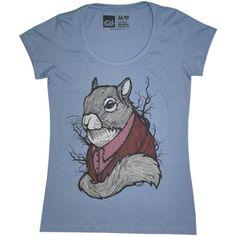 Camiseta SQUIRREL, modelagem básica