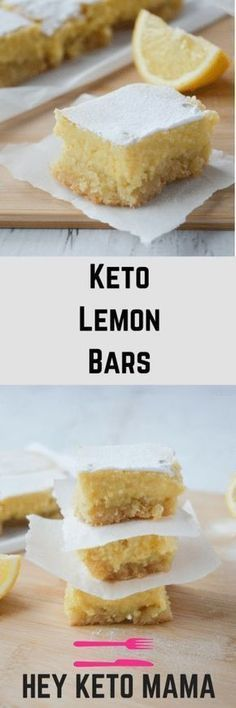 This recipe for keto lemon bars is an absolute low carb dream! CLICK Image for full details This recipe for keto lemon bars is an absolute low carb dream! With only of net carbs per serving, you'll. Low Carb Deserts, Low Carb Sweets, Desserts Keto, Dessert Recipes, Keto Desert Recipes, Keto Snacks, Easy Keto Dessert, Recipes Dinner, Cookie Recipes