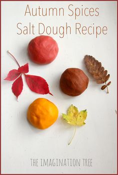 How to make a beautifully scented Autumn salt dough recipe for model making and DIY keepsakes with kids. This dough dries hard and smells wonderful!