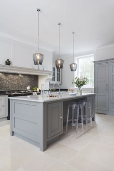 oom where functionality is king, kitchen island lighting is often the place that you can inject a little personality and colour to your design, but with seemingly endless possibilities it can s Open Plan Kitchen Dining Living, Open Plan Kitchen Diner, Living Room Kitchen, Home Decor Kitchen, Interior Design Kitchen, New Kitchen, Home Kitchens, Kitchen Ideas, Kitchen Furniture