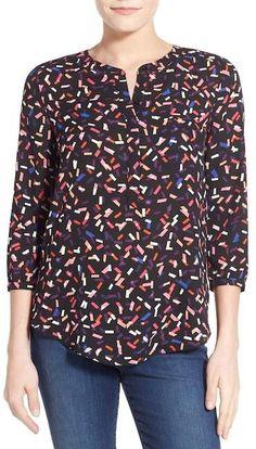 Men Comfort Henley Short Sleeve Nightshirt Patchwork Sleep Shirt DZ88 01