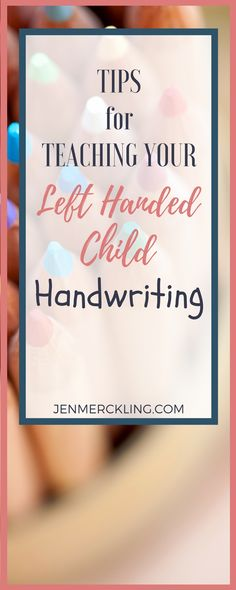 I've learned some tricks for teaching a left handed child handwriting--discover 3 ways to help your child today! Teaching Handwriting, Handwriting Activities, Improve Your Handwriting, Nice Handwriting, Handwriting Practice, Pre Writing, Kids Writing, Teaching Writing, Start Writing