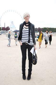 Kate Lanphear, the style director of Elle USA - fashion idol! Fashion Idol, Tomboy Fashion, Unisex Fashion, Fashion Editor, Fashion Models, Dark Fashion, Style Fashion, Fashion Outfits, Hipster Grunge