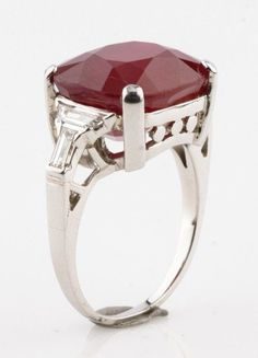 367bc8e52 Details about Art Deco Sapphire and Diamond Vintage PLATINUM RING SIZE 8.25