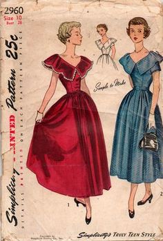 Simplicity 2960 40s dress