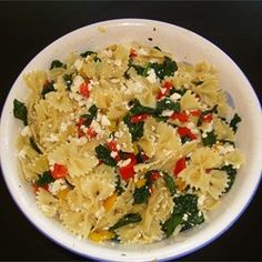 """Sweet Pepper Pasta Toss with Kale   """"I added kalamata olives, zucchini, extra cayenne and extra kale."""""""