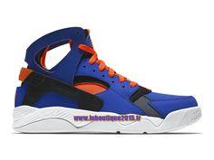 Officiel Nike Air Flight Huarache - Chaussure de Nike Basket-ball Pour Homme Bleu électrique/Orange total/Noir/Blanc 705005-400