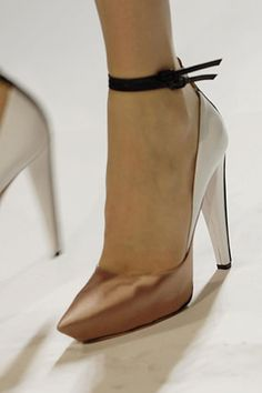 Want want want. copper + white sexy heels