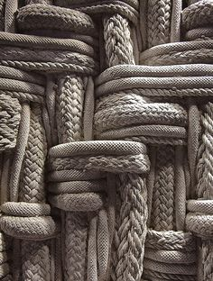 Rope texture, made of concrete!