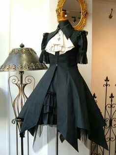 My Gothic Lolita The uneven skirting is what sets this apart Gothic Lolita Fashion, Gothic Outfits, Gothic Dress, Cool Outfits, Fashion Outfits, Womens Fashion, Fashion Ideas, Punk Fashion, Fashion Clothes