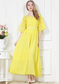 Black Short Sleeve Floral Pleated Chiffon Dress - Sheinside.com