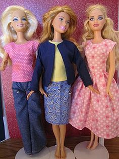Barbie Doll Clothes Patterns. @preethi raghavan