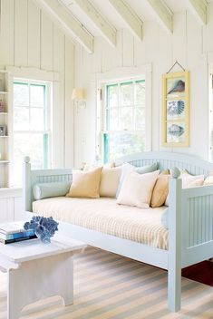 Make any home feel like a beach cottage brimming with coastal charm. Read more in our April 2014 feature \Find Your Maine Style.\ Photo by James R. Salomon.