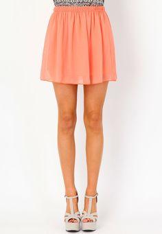 Ellva Sheer Skater Skirt