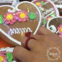 ♥️Wunderschönen Muttertag♥️ Gingerbread Cookies, Women, Black Heart, Natural Rubber, Red Black, Mother's Day, Ring, Schmuck, Gifts