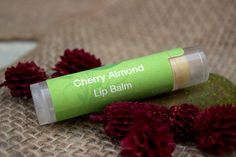 Lip Balm, Cherry Almond, rustic inspired, summer inspired, floral inspired, Tube, .15 oz on Etsy, $2.50