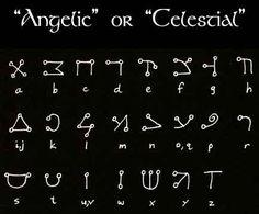 Angelic runes.