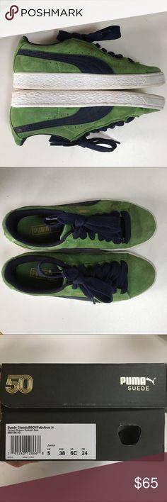 9a636f37a47f38 Puma Sneakers  green and navy blue  UK5 EU38  7.5 Puma Sneakers