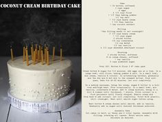 Always With Butter: Coconut Cream Birthday Cake