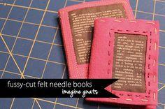 fussycut felt needle books
