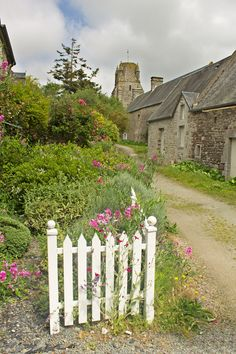 View toward the church - Regneville-sur-Mer, Basse-Normandie France