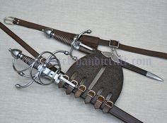Rapier set with custom decorated Spanish belt and hanger