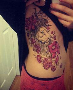 brave tattoo tatoo girl tattoos thigh tattoos girls tattoo girls lion ...