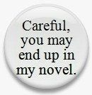 Careful You May End up in my Novel 125 by MyHeavenlyGreetings, $1.50