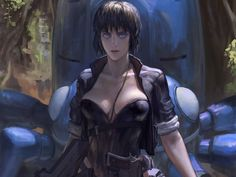 """She is Motoko Kusanagi also know as The Major the leader of Section 9 an elite crime fighting group in the future where cyber-crime is the way of life. This is the world of Ghost in The Shell. Where the Matrix ends """"the Major"""" begins http://tomatovisiontv.wix.com/tomatovision2#!anime/cjg9"""