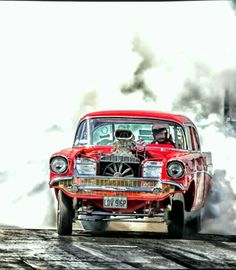 Turning it Loose! 1957 Chevy Bel Air, 1957 Chevrolet, 1955 Chevy, Nhra Drag Racing, Vintage Race Car, Drag Cars, Us Cars, American Muscle Cars, Car Humor