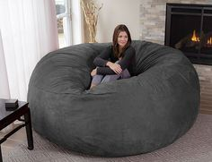 The Chill Bag is a giant bean bag that measures eight feet long in diameter!