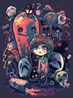 Fanart Pyromaniac. Madotsuki, Sentimental Komuro Michael Sakamoto Dada-sensei (Seccom Masada-sensei), Toriningen, Uboa, Monoko and etc from Yume Nikki.