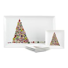 Christmas Platter with serving plates (5 piece set)