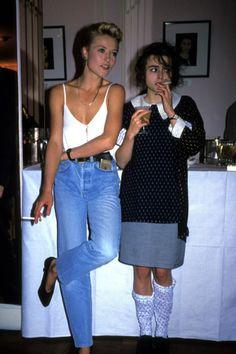 """Helena Bonham Carter at a """"Elle"""" party 1988"""