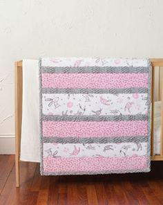 Bambino Cuddle Quilt Kit-Bunny Hunny - simple strips of fabric