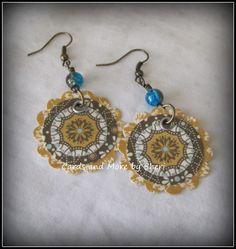 Boho Paper and Bead Dangle Earrings by CardsAndMoreBySheri on Etsy, $8.50