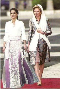 Queen Rania and Queen Noor of Jordan