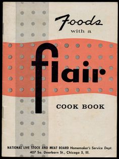 Foods With A Flair Cook Book, 1942 - Lard, Dream Puffs, Baked Goods  http://www.amazon.com/gp/product/B01M3VN4RF/ref=cm_sw_r_tw_myi?m=A3FJDCC1SFO8CE