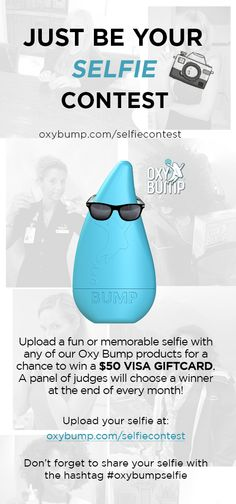 Oxy Bump Selfie Contest  Upload a fun or memorable selfie with any of our Oxy Bump products for a chance to win a $50 visa Giftcard.  A panel of judges will choose a winner at the end of every month!   Upload your selfie at: oxybump.com/selfiecontest  #selfie #selfiecontest #oxybumpselfie Sinus Congestion Relief, Throat Spray, Just Be You, Judges, Ecommerce Hosting, Sprays, Bump, How To Memorize Things, Traveling