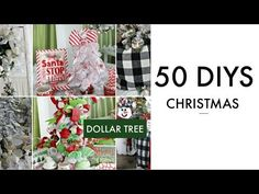 In today's video I am so excited to share with you 50 DIY Dollar Tree Christmas decor crafts! Dollar Tree Christmas, White Christmas, Christmas Time, Christmas Crafts, Christmas Decorations, Christmas Ideas, Christmas Swags, Tree Decorations, Holiday Decor