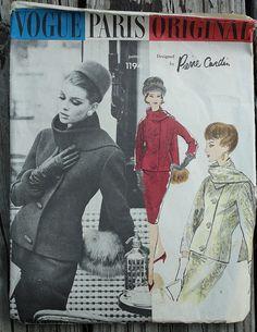 Vogue Paris Original Pierre Cardin 1194 1960s by EleanorMeriwether