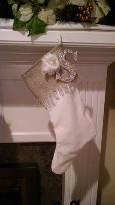 Burlap fringe stocking