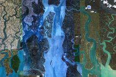 Aerial view of the Ganges delta region. Image: Google Earth.