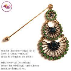 gold and green Hijab Pin Modest topaz Headwear prom Hijab Jewelry madzfashionz Hijab Pins, Corsage Pins, Hair Jewels, Stick Pins, Custom Items, Brooch Pin, Crochet Earrings, Handmade Items, Hair Accessories