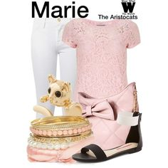 Inspired by Disney's Marie from 1970's The Aristocats.