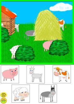 Фотографии Развивающие мультики и картинки – 31 альбом Farm Animals Preschool, Preschool Puzzles, Fall Preschool Activities, Preschool Education, Toddler Learning Activities, Free Preschool, Kindergarten Worksheets, Kids Learning, Animals And Their Homes