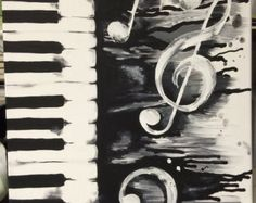 Musik nimmt 9 x 12 Acryl-Malerei Gemälde von ArtsyChattanooga