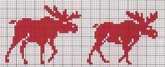 "Photo from album ""Жаккард"" on Yandex. Cross Stitch Alphabet, Cross Stitch Charts, Cross Stitch Embroidery, Cross Stitch Patterns, Knitting Charts, Knitting Stitches, Knitted Mittens Pattern, Knit Mittens, Fair Isle Chart"