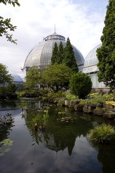 Frederick Law Olmstead designed Detroit's Belle Isle Park; the park's  Conservatory is still beautiful.  #BelleIsle